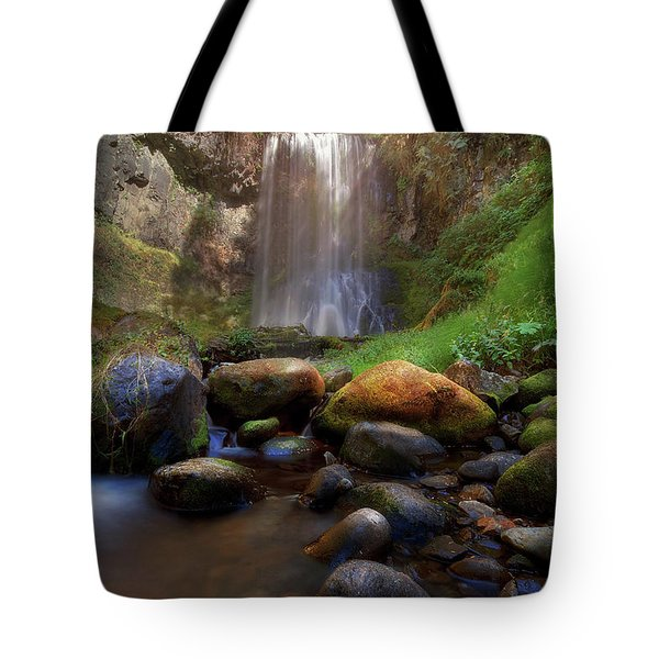 Afternoon Delight At Upper Bridal Veil Falls Tote Bag by David Gn