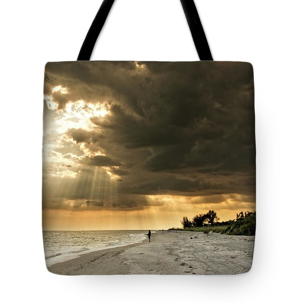 Afternoon Fishing On Sanibel Island Tote Bag by Chrystal Mimbs