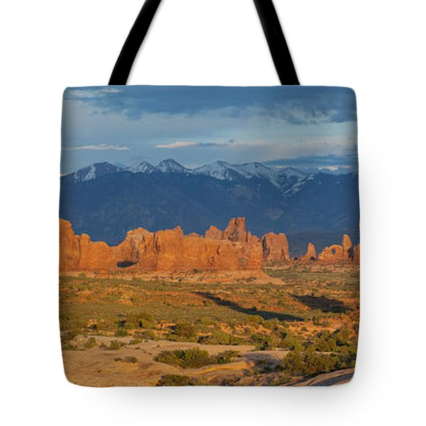 Afternoon In Arches National Park Tote Bag by Aaron Spong