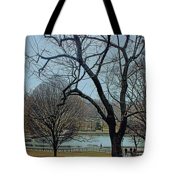 Afternoon In The Park Tote Bag by Sandy Moulder