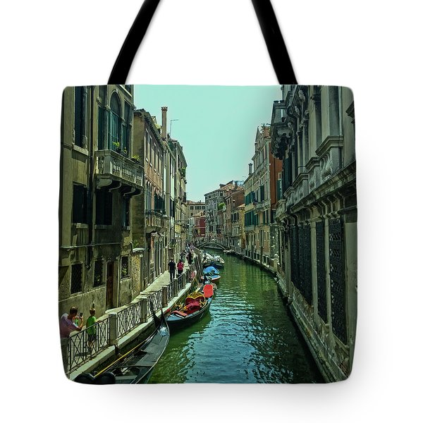 Tote Bag featuring the photograph Afternoon In Venice by Anne Kotan