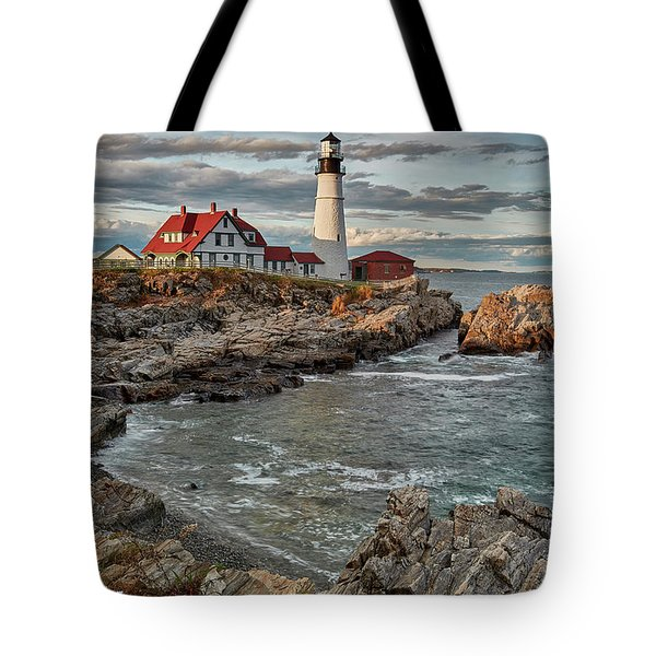 Afternoon Light At Cape Neddick Tote Bag