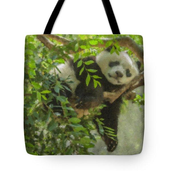 Afternoon Nap Baby Panda Tote Bag