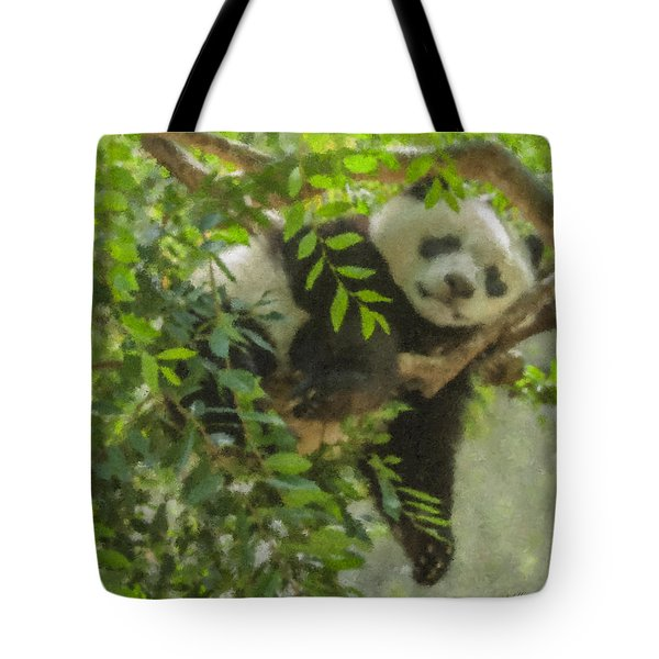 Afternoon Nap Baby Panda Tote Bag