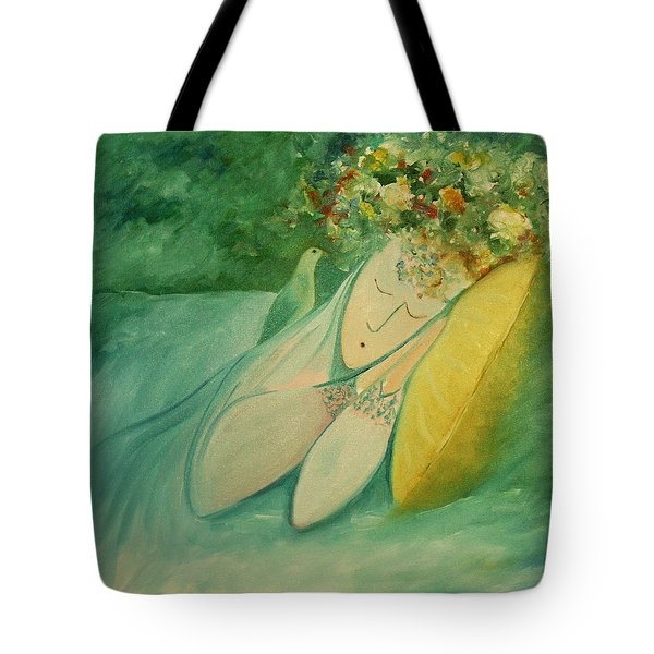 Afternoon Nap In The Garden Tote Bag by Tone Aanderaa