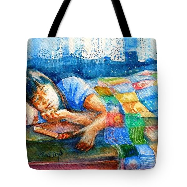 Afternoon Nap Tote Bag by Trudi Doyle