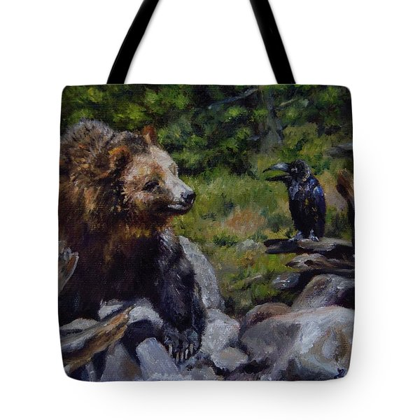 Afternoon Neigh-bear Tote Bag