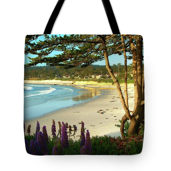 Afternoon On Carmel Beach Tote Bag