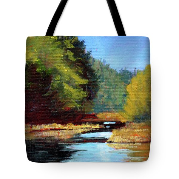 Afternoon On The River Tote Bag