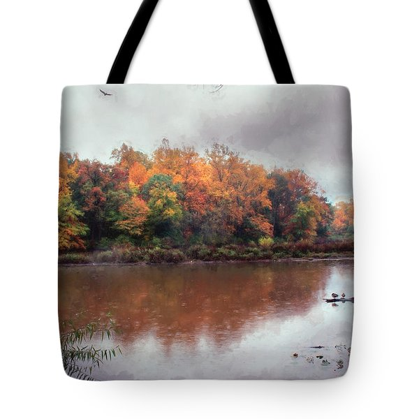 Tote Bag featuring the photograph Afternoon Rain by John Rivera