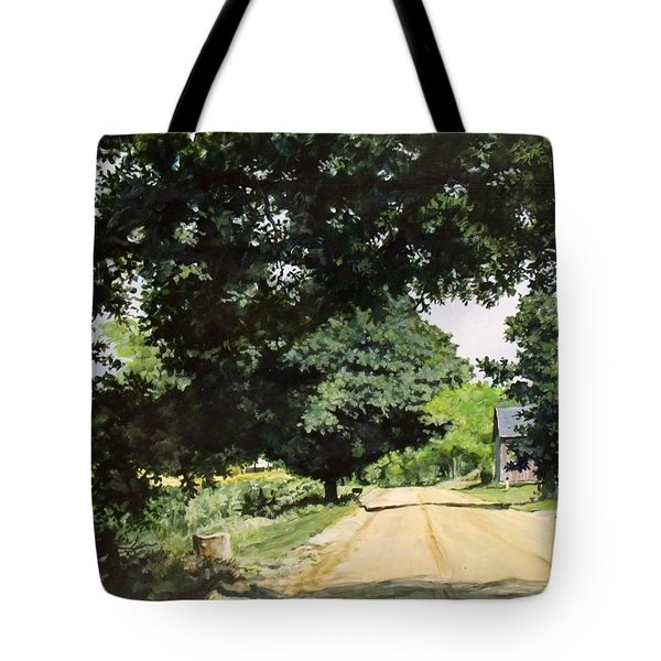 Afternoon Road Tote Bag