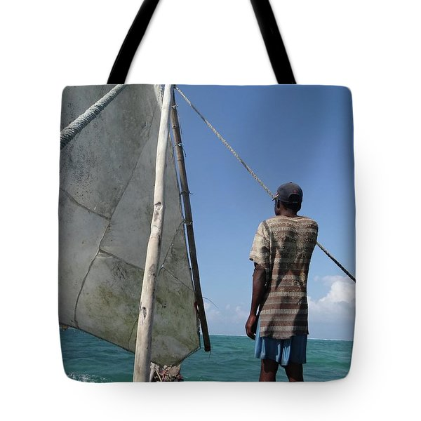 Afternoon Sailing In Africa Tote Bag