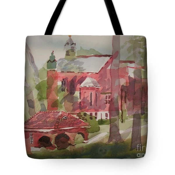 Tote Bag featuring the painting Afternoon Shadows W403 by Kip DeVore