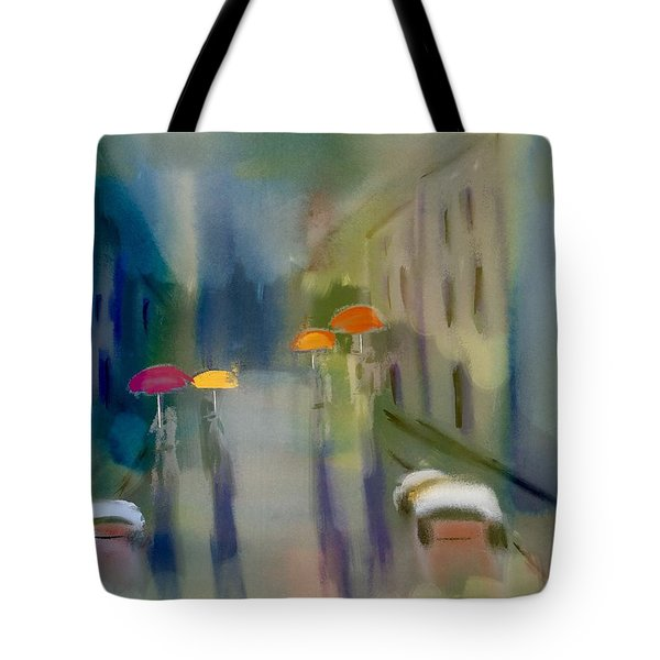 Afternoon Shower In Old San Juan Tote Bag by Frank Bright