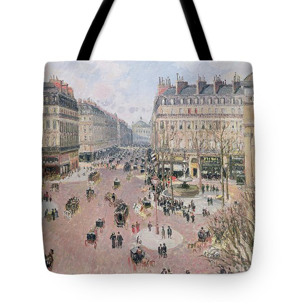 Afternoon Sun In Winter Tote Bag by Camille Pissarro