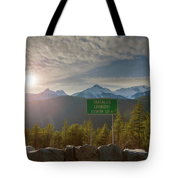 Afternoon Sun Over Tantalus Range From Lookout Tote Bag