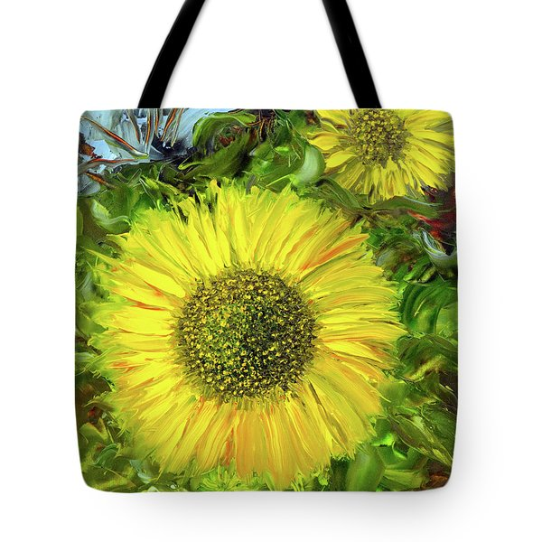 Afternoon Sunflowers Tote Bag