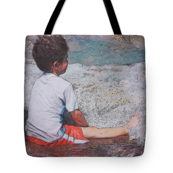 Tote Bag featuring the photograph Afternoon Surf by Kate Word