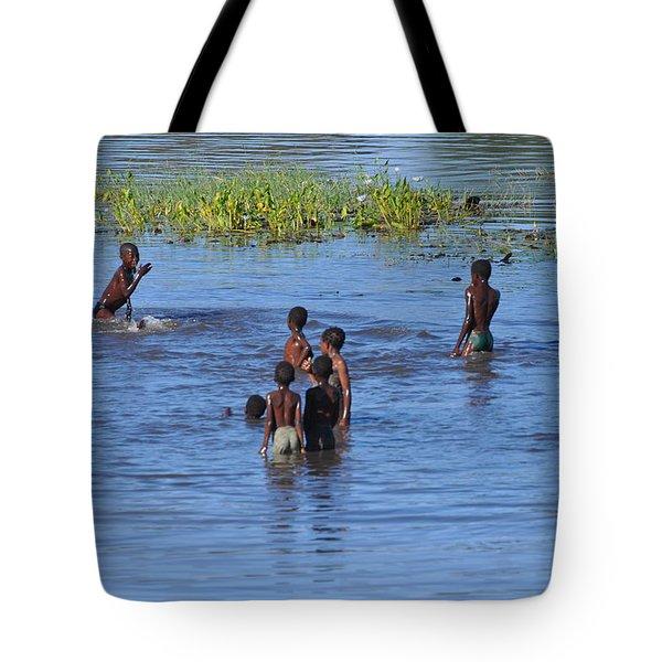 Afternoon Swim Tote Bag by Joe  Burns