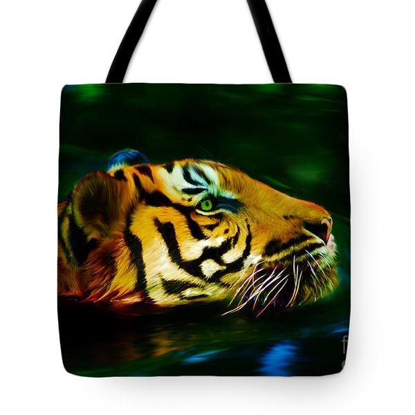 Afternoon Swim - Tiger Tote Bag