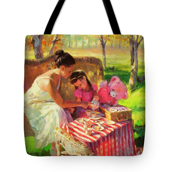 Tote Bag featuring the painting Afternoon Tea Party by Steve Henderson