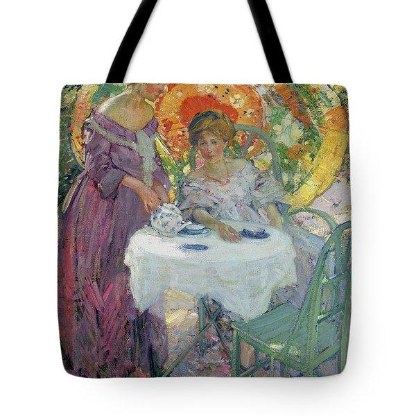 Afternoon Tea Tote Bag by Richard Edward Miller