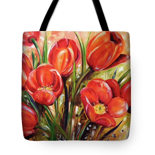 Afternoon Tulips Tote Bag
