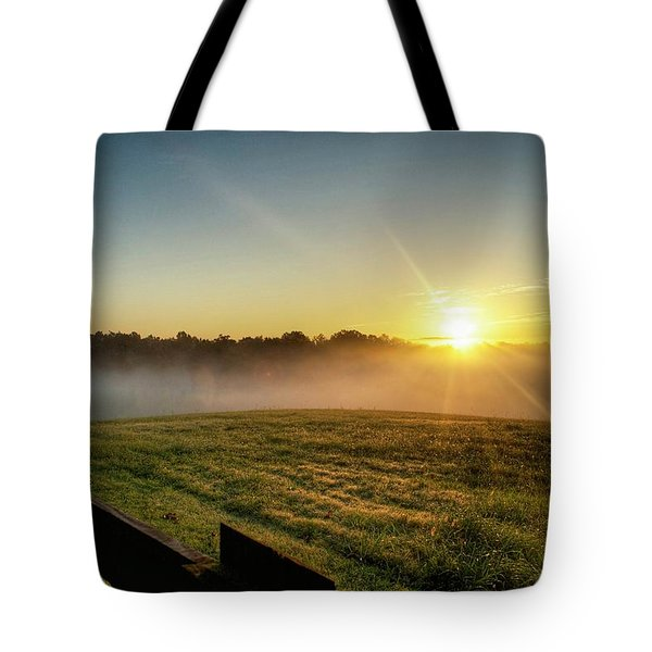 Afton Va Sunrise Tote Bag