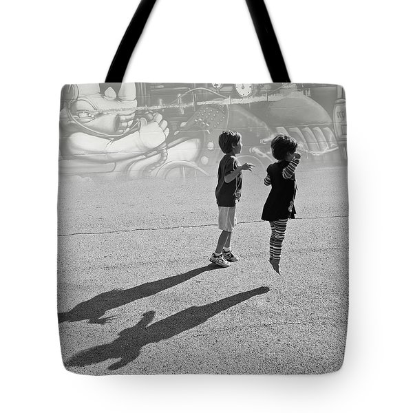 Against Gravity Tote Bag
