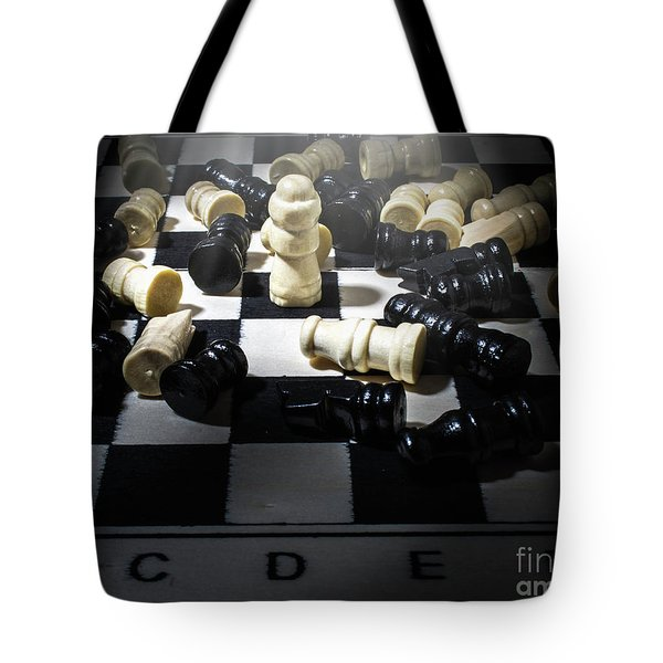 Against Stacked Odds Tote Bag