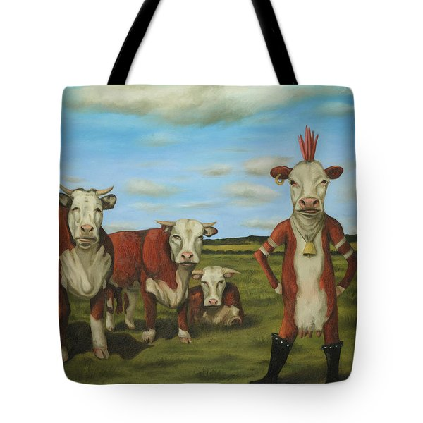 Against The Herd Tote Bag by Leah Saulnier The Painting Maniac
