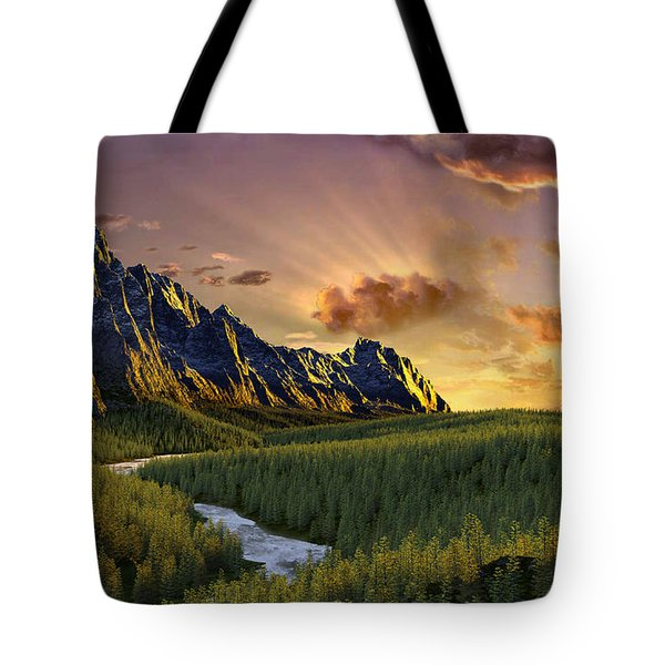 Against The Twilight Sky Tote Bag