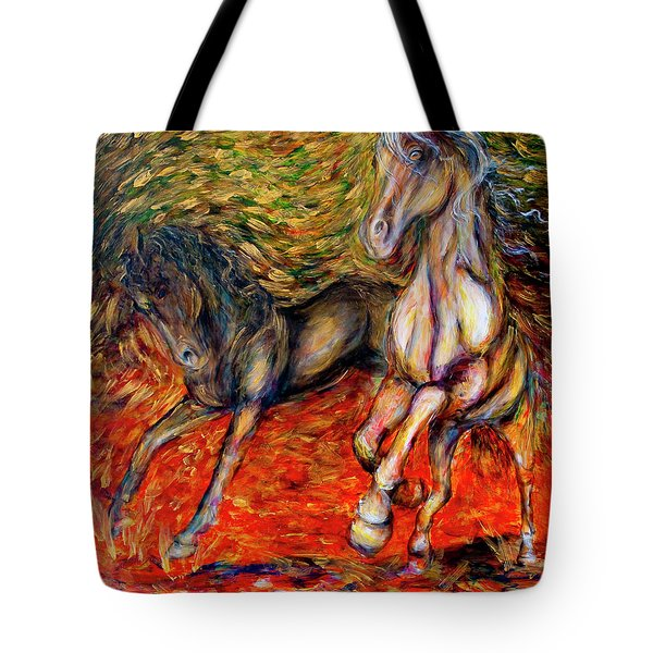 Against The Wind IIi Tote Bag