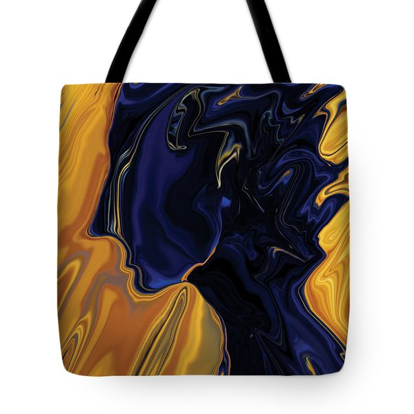 Tote Bag featuring the digital art Against The Wind by Rabi Khan