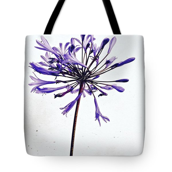 Agapanthus 2 Tote Bag by Julie Gebhardt