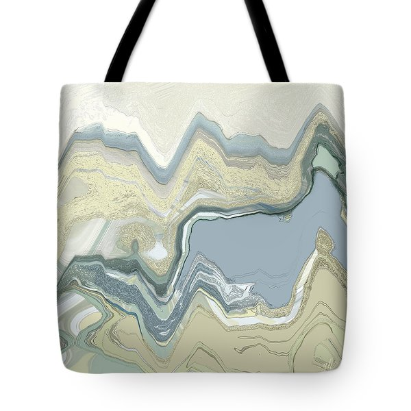 Tote Bag featuring the digital art Agate by Gina Harrison