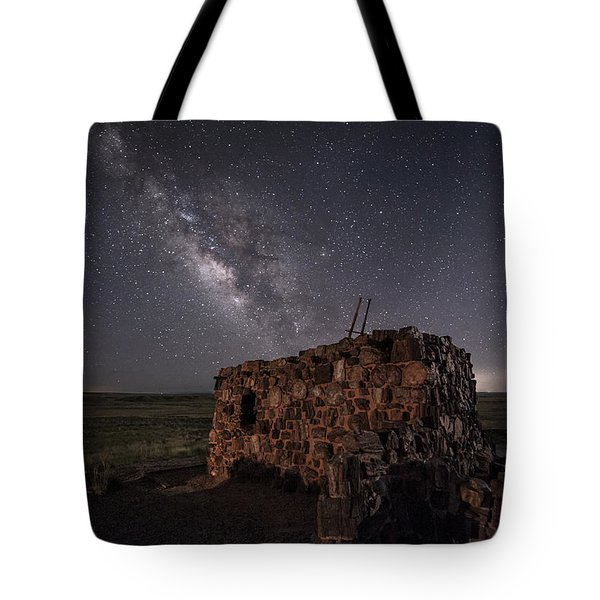 Tote Bag featuring the photograph Agate House At Night by Melany Sarafis