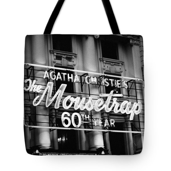 Tote Bag featuring the photograph Agatha Christie's The Mouse Trap 60th Anniversary by Helga Novelli