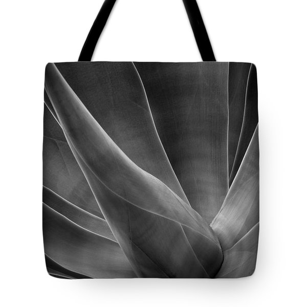 Agave Leaves Bw Tote Bag