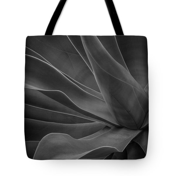 Agave Plant Bw Tote Bag