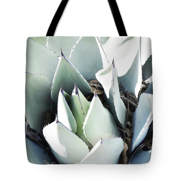 Tote Bag featuring the photograph Agave Plant Leaves by Andrea Hazel Ihlefeld