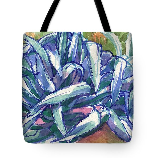 Tote Bag featuring the painting Agave Tangle by Judith Kunzle