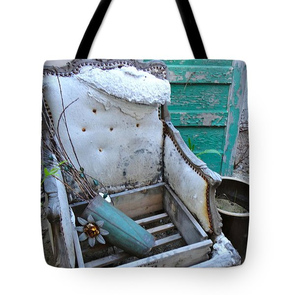 Time In Teal Tote Bag by Cathy Dee Janes
