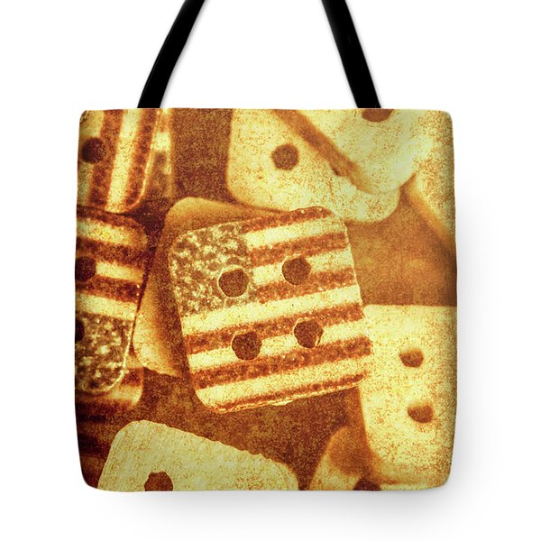 Age Old Fashion Buttons Tote Bag