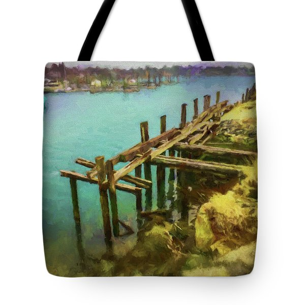 Aged Docks From Winthrop Tote Bag
