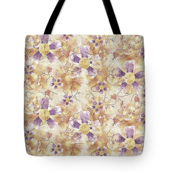 Aged Flower Clown Pattern Tote Bag