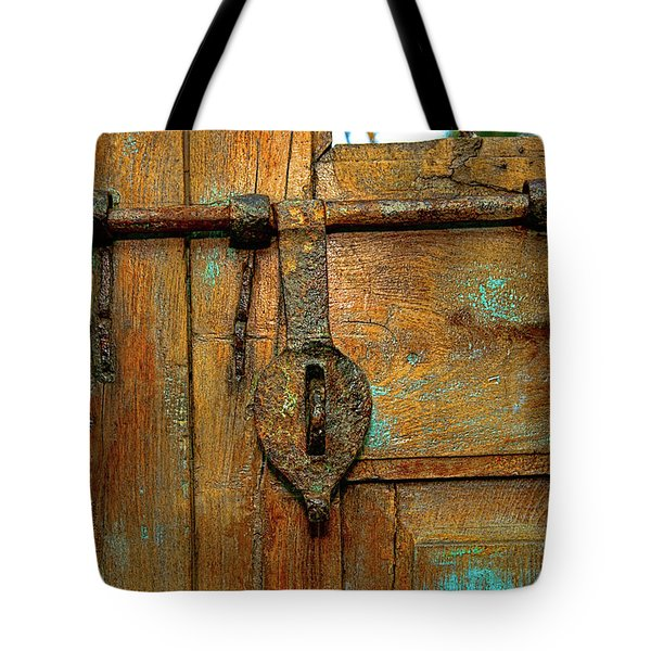 Aged Latch Tote Bag by Christopher Holmes