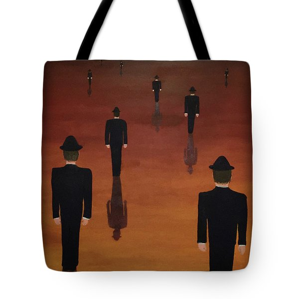 Tote Bag featuring the painting Agents Orange by Thomas Blood