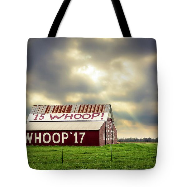Tote Bag featuring the photograph Aggie Barn by David Morefield