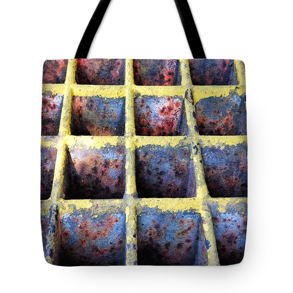 Tote Bag featuring the photograph Aging Steel by Olivier Calas